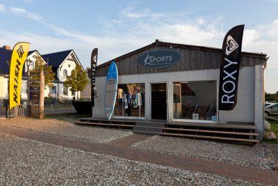 Außenansicht SUP Store in Waren Müritz
